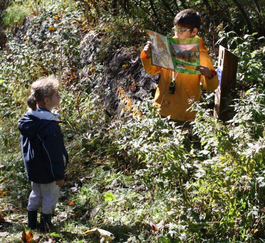 Col d'Ornon, parcours d'orientation patrimoine, enfant