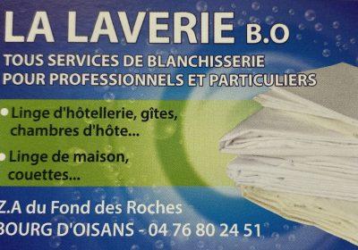 Blanchisserie La Laverie BO