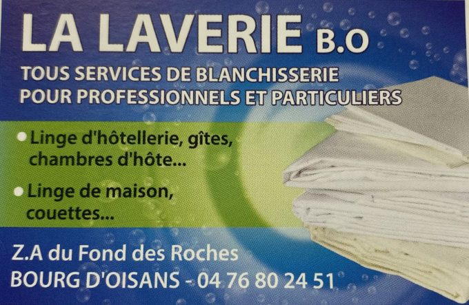 laverie Bo carte de visite